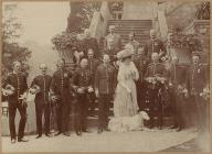 South Wales Borderers officers at Powis Castle,...