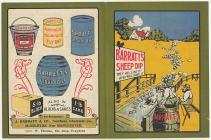 Taflen dip defaid, Pen-y-bont, tua'r flwyddyn 1906