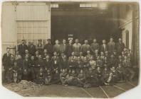 Foundry workers, Llanidloes, c. 1919