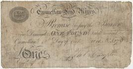 Promissory note,  Cwm ellan Lead Mines, 1839