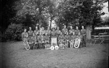 Photograph of the Royal Horse Artillery brass...