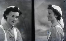Double portrait photograph of a nurse, 1940s,...