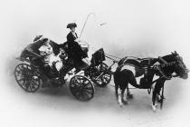 Photograph of horses and carriage, Llandrindod...
