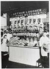 Arthur Lougher's butchers stall in...