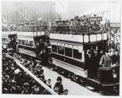Opening of Pontypridd electric tramway service,...