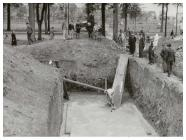 Building air raid shelters near the Temple of...