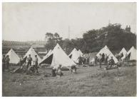 Troops camped near Llanelli during the Railway...