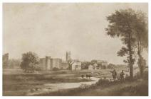 Cardiff from the west, c. 1820