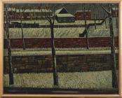 'Snow Scene, Llandaff' gan Charles Byrd, 1950au