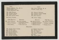Cerdyn angladd Robert Owen, Y Drenewydd, 22...