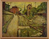 'Railway, Adamsdown' gan Charles Byrd, 1950au ...