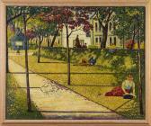 'Gorsedd Gardens, Cardiff' gan Charles Byrd,...