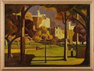 'Cardiff Castle, an Autumn Scene' gan Charles...