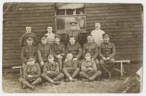 Sergeant Richard Richards in group at Heaton...