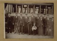 First Crew of Neath Tram, outside London Road...