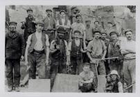 Gwenffrwd Quarrymen, Tonmawr, Neath, c.1897