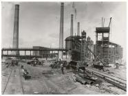 Blast furnaces, East Moors Steelworks, Cardiff,...