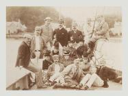 Officers of the Monmouthshire Regiment aboard a...
