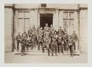 Men of the Monmouthshire Regiment outside...