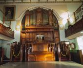 Interior of Tabernacl Welsh Baptist Chapel,...