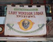 Banner of National Union of Mineworkers, Lady...