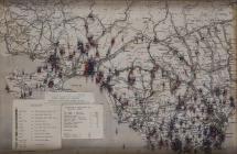 Map of Glamorgan showing Second World War bomb...