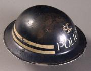 Standard WW2 Police air raid helmet, 1939-45