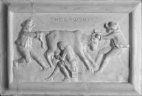 Alabaster plaque, Beaumaris courthouse