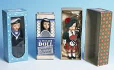 Three Rogark dolls with original boxes, late 1950s