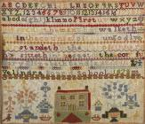 19th century sampler, made by Mary Elizabeth...