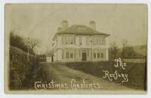 Cerdyn Nadolig o reithordy Eglwys St John's,...
