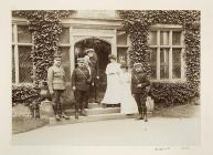 Officers of the Monmouthshire Regiment with...