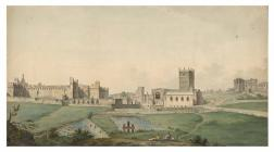 'View of the Bishops Palace and St David&...