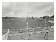 Cardiff Arms Park, prior to the construction of...