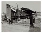 Demolishing the old North Stand, Cardiff Arms...