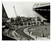 Constructing the West Stand, Cardiff Arms Park,...