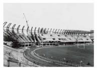 The construction of the North Stand, Cardiff...