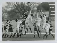 A line-out between Swansea and Cardiff, 1970s