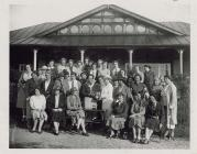 Lady golfers outside Clubhouse at Llandrindod...