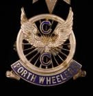 Porth Wheelers Cycling Club badge, early 20th...