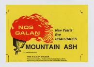 Nos Galan Races Car Sticker, 20th century