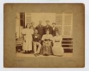 A portrait of the Linton family, including the...