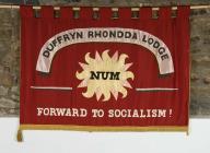 Duffryn Rhondda Lodge banner, National Union of...