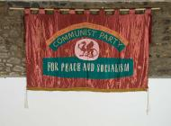 Welsh Committee of the Communist Party banner,...