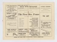 Rhestr gast 'The First Mrs. Fraser', a...
