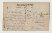 Card sent by Ernest Vaughan Jones