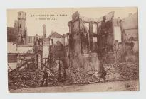 Postcard of the ruins of Lille, 1915