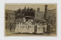 Photograph of Nurse with bus