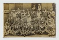 Photograph of convalescing soldiers