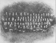 Llangollen. Male voice choir